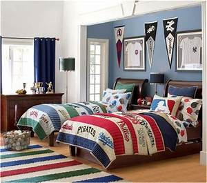 teen boys sports theme bedrooms room design inspirations With boys room ideas sports theme