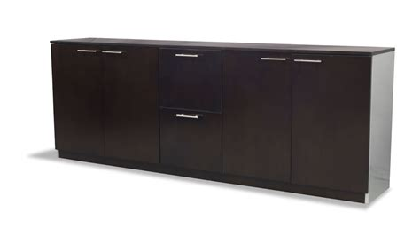 office credenza with shelves modern polished walnut filing cabinet credenza