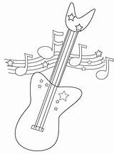 Guitar Coloring Electric Printable Line Drawing Pages Dragon American Bass Jake Getcolorings Getdrawings sketch template