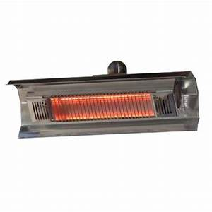 Fire sense 1500 watt stainless steel wall mounted for Electric patio heater home depot