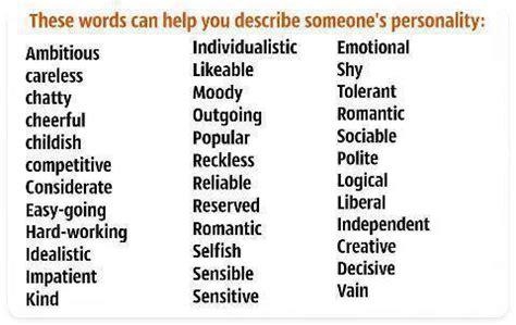 Describing People Adjectives  My English Blog