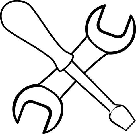 tool kit clipart black and white white tools clip at clker vector clip