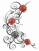 Rose And Vines Tattoos...