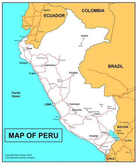peru map tourist attractions toursmapscom