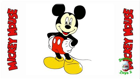 draw mickey mouse step  step  kids youtube