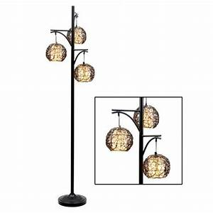 Triple wicker floor lamp kirkland39s home ideas pinterest for Wicker floor lamp at kirklands