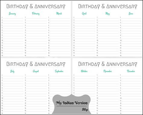 birthday and anniversary calendar template printable birthday calendars 187 calendar template 2018