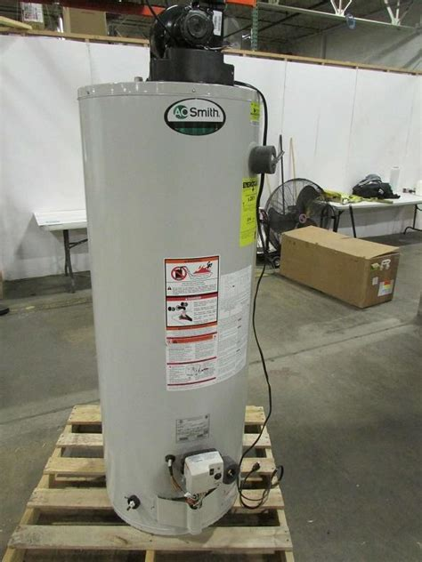 ao smith  gallon natural gas power vent water heater