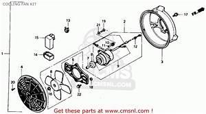 Honda Trx300 Fourtrax 300 1991  M  Usa Cooling Fan Kit