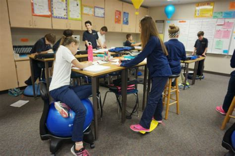 standing desks for students students use standing desks exercise equipment to boost
