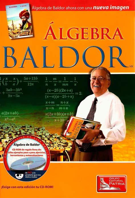 Grupo editorial patria) en pdf libro aurelio j. Álgebra de Baldor: Nueva Imagen   LibrosVirtual