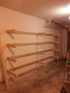 garage shelf plans  shelf plans build  simple mission style wall shelf build storage