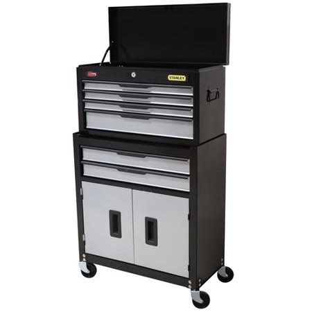 stanley 6 drawer chest and cabinet combo stanley 5 drawer chest and cabinet combo walmart