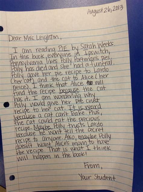 leightons  grade homework reading response