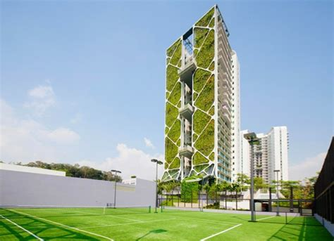 Singapore Vertical Garden by Great World Structures With Green Facades And Vertical Gardens