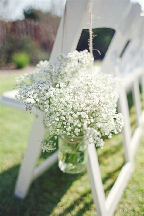 rustic budget friendly gypsophila babys breath wedding