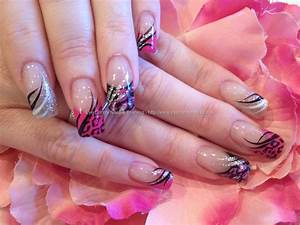 Eye Candy Nails & Training - Black, pink and silver ...