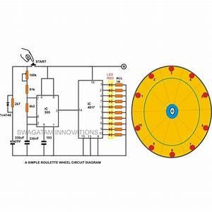 10 Led Simple Roulette Wheel Circuit Diagram