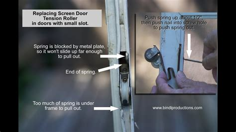 how to replace tension roller on sliding screen door with
