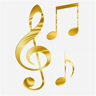 Note Musical Clipart Gold Sheet Notes Psd