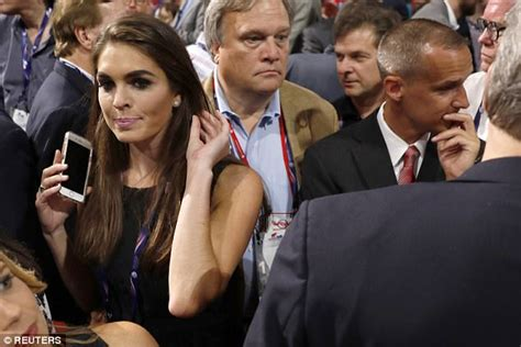 Hope Hicks dated campaign manager Corey Lewandowski ...