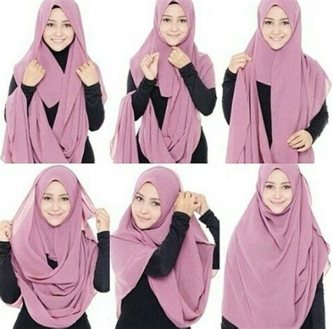 simple  easy hijab styles  school girls styles