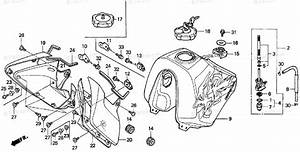 Honda Motorcycle 1995 Oem Parts Diagram For Fuel Tank