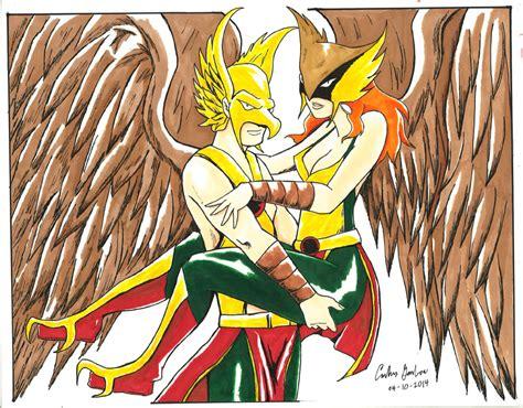 Hawkman Carrying Hawkgirl By Wibbitguy On Deviantart