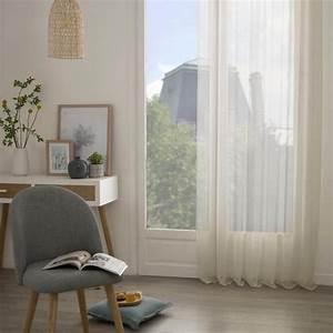 Rideau Voilage Lin : rideau voilage moly 135x240cm lin ~ Teatrodelosmanantiales.com Idées de Décoration
