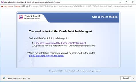 mobile access agent checkpoint r80 issues msi