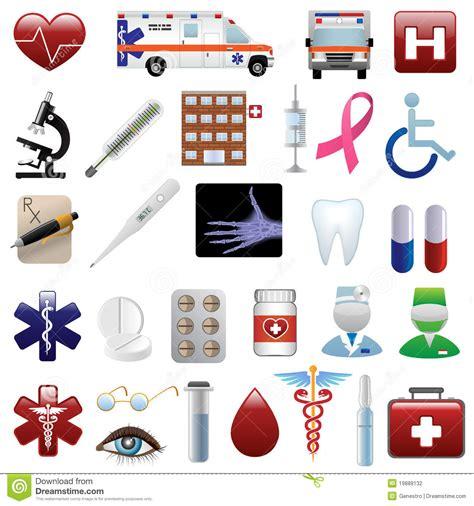 medical  hospital icons set stock photography image