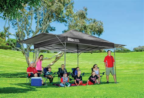 solo steel quick shade pop  tent canopy grizzly shelter