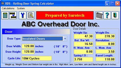 garage door spring weight chart garage door torsion spring calculator  weight dandk