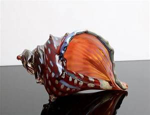 Electric, Red, Sea, Shell, By, Benjamin, Silver, Art, Glass, Sculpture