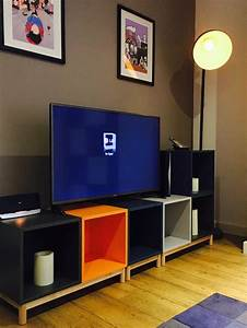 Ikea Table Tv : 25 best ideas about ikea eket on pinterest ikea living room storage ikea wall units and ikea ~ Teatrodelosmanantiales.com Idées de Décoration