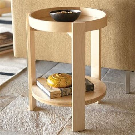birch log table birch wood tray side table furnishings better living through design