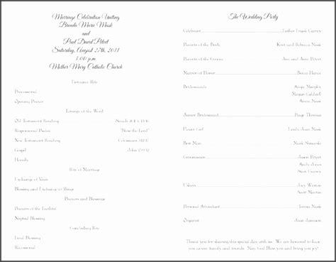 5 blank wedding program template sletemplatess