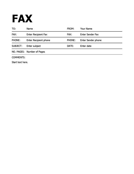 fax memo template word fax cover letter sample