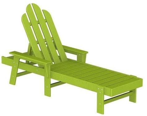 adirondack chaise polywood adirondack chaise lounge lime traditional