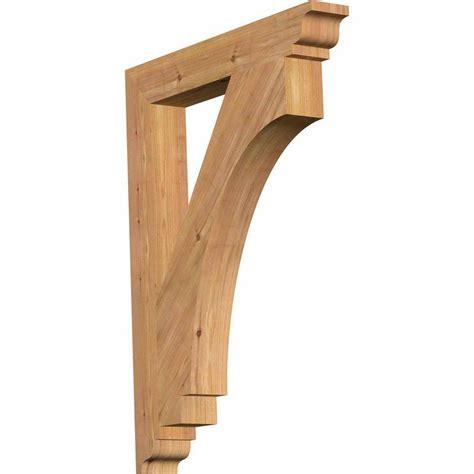 imperial cedar products ekena millwork 3 5 in x 34 in x 26 in western red cedar imperial traditional smooth bracket