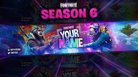 fortnite season  themed banner template photoshop