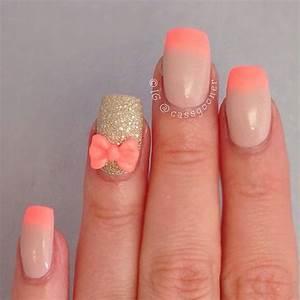 35 French Nail Art Ideas | Gold glitter nail polish, Gold ...