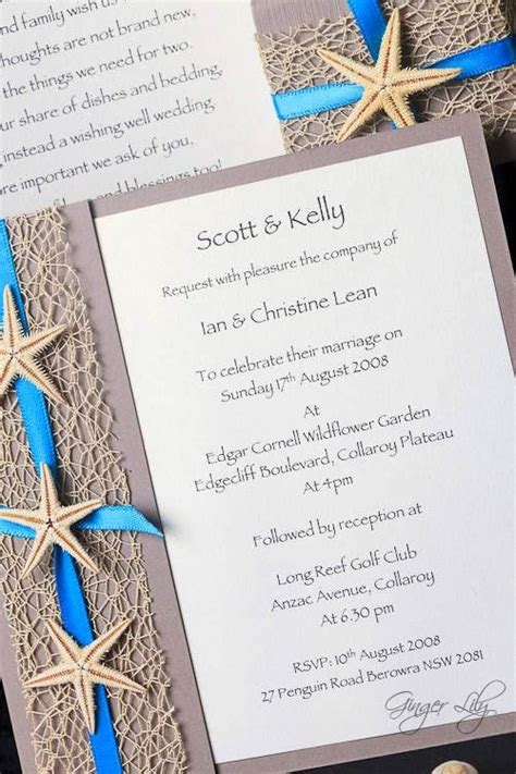beach wedding invitation diy kit urban starfish teal