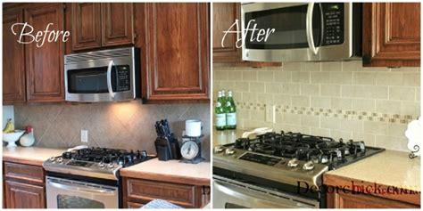 kitchen backsplash makeover reveal decorchick