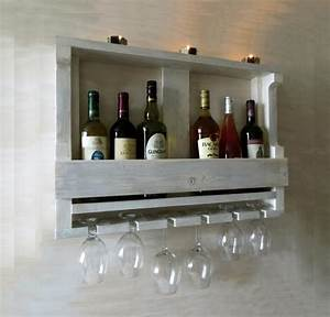 Rack A Verre : wooden wine rack hanging wine glass rack white shelf ~ Teatrodelosmanantiales.com Idées de Décoration