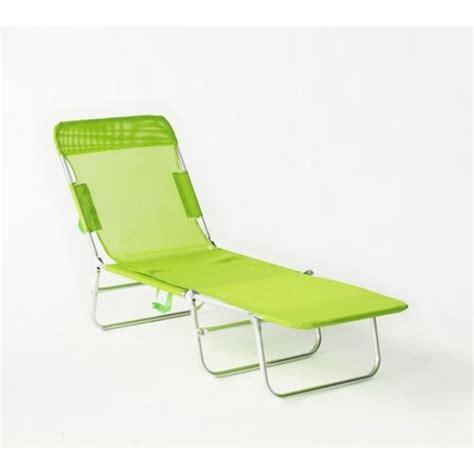 chaise de plage carrefour déco maison transat de plage pliable multipositions vert