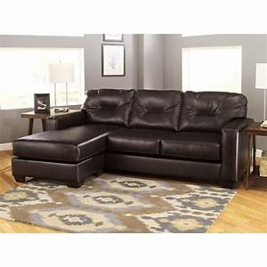 Ashley alluvia reversible 2 piece faux leather sectional for 2 piece sectional sofa ashley
