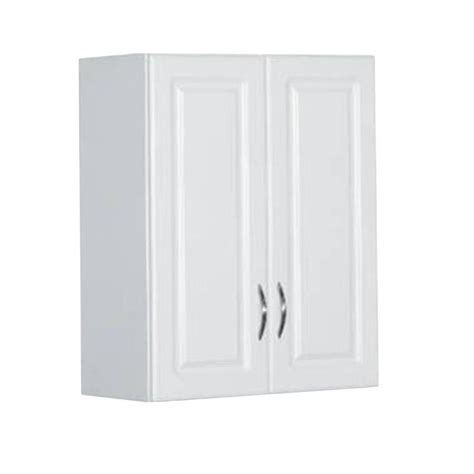 30 in. H x 24 in. W x 12 in. D White Raised Panel Wall