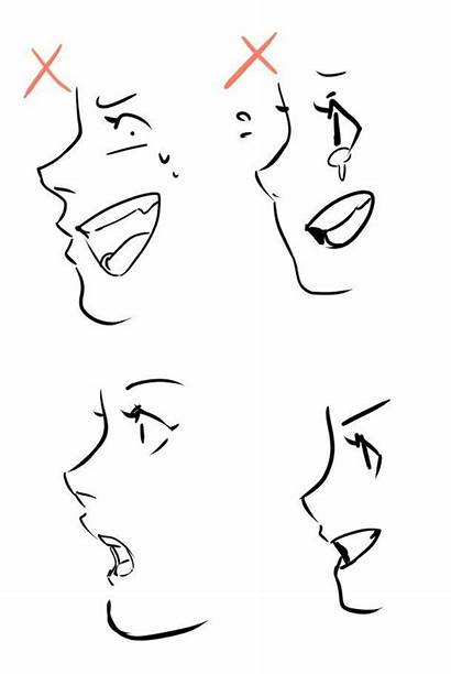Drawing Face Side Reference Anime Profile Mouth