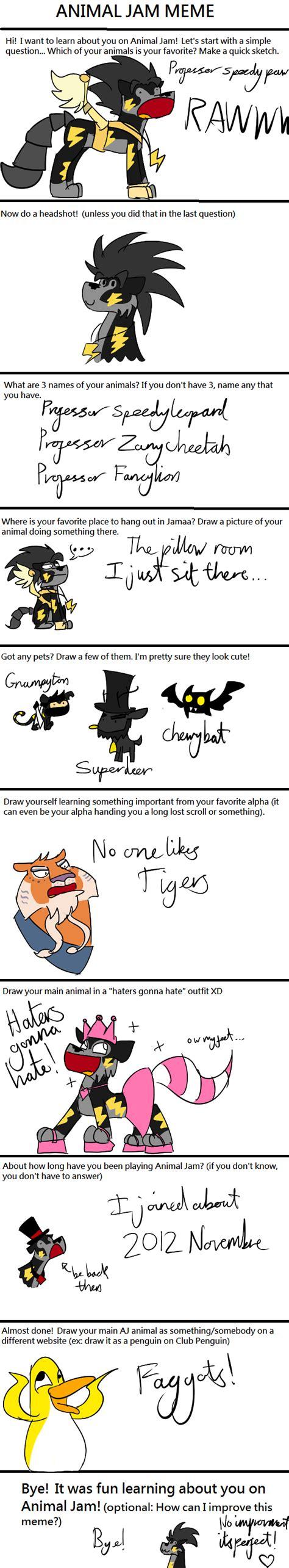 Animal Jam Memes - animal jam meme by professoraurabolt on deviantart